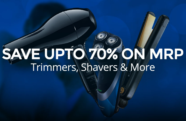 Save Upto 70% On MRP On Personal Grooming