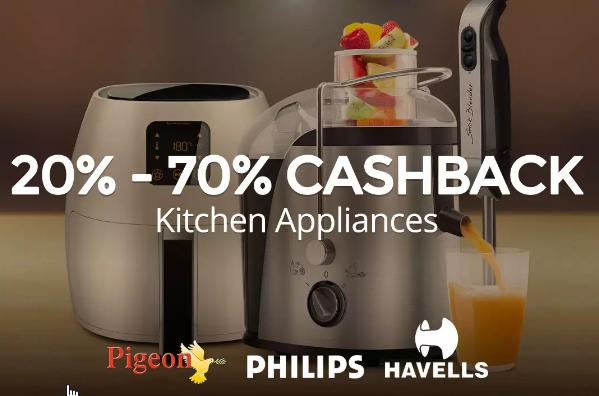 Kitchen Appliances - Upto 70% Cashback