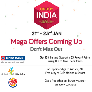 Snapdeal Unbox India Sale(21-23 Jan)