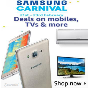 Samsung Carnival: Deals on Mobiles, TVs , Appliances & more