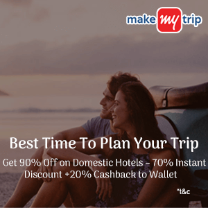 90% Off on Domestic Hotels – 70% Instant Discount (up to Rs. 2500) + 20% Cashback to Wallet (up to Rs. 2500)