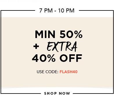 Min 50% + Extra 10% Off on Men & Women's Fashion @Jabong