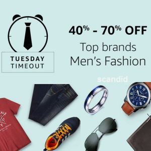 40% to 70% off on Men's Top Brand Fashion