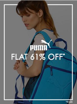 Flat 61 Percent Off on Men & Women Fashion from Puma