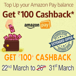Get Rs. 100 Cashback: Top Up Your Amazon Pay Balance