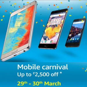Mobile carnival: Up to Rs. 2,500 off