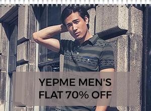 Yepme Men's Ethnic, Casual & Sports wear 70% off @Tatacliq