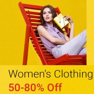 Women's Ethnic & Western Clothing 50% - 80% off @Flipkart