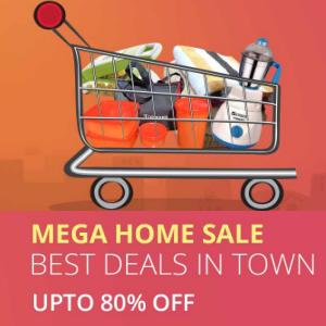 Mega home sale upto 80% off on shopclues