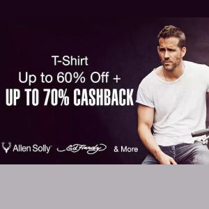 Mens t-shirts upto 60% off + upto 70% cashback @paytmmall