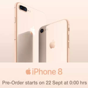Pre book Apple iPhone 8 & 8 Plus from 22nd Sept @flipkart