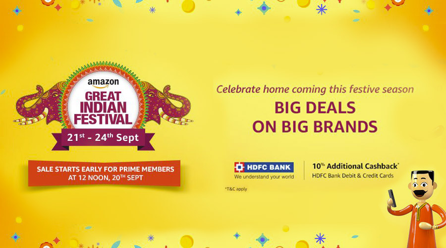 Amazon Great Festival Sale 21st - 24th Sept.