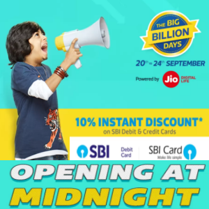 The big billion Days 20th - 24th Sept'17 on flipkart