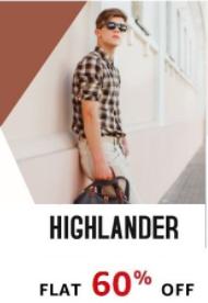 60% off - Highlander Mens Clothing @amazon