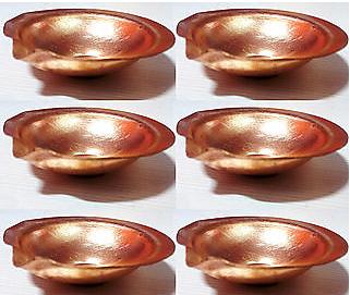 Puja Copper Diya set of 6 Rs.60