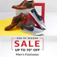 Upto 70% off on Mens Footwear